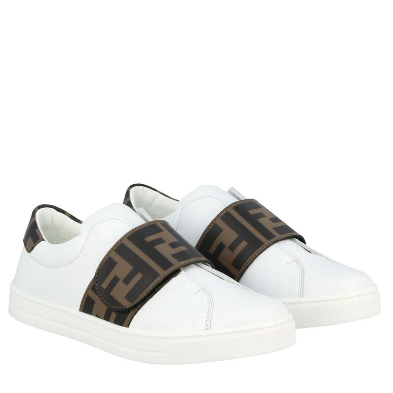 Boys & Girls White FF Calf Skin Shoes