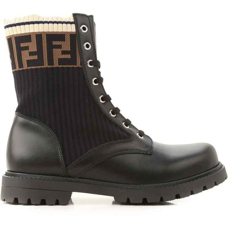 Boys & Girls Black FF Boots