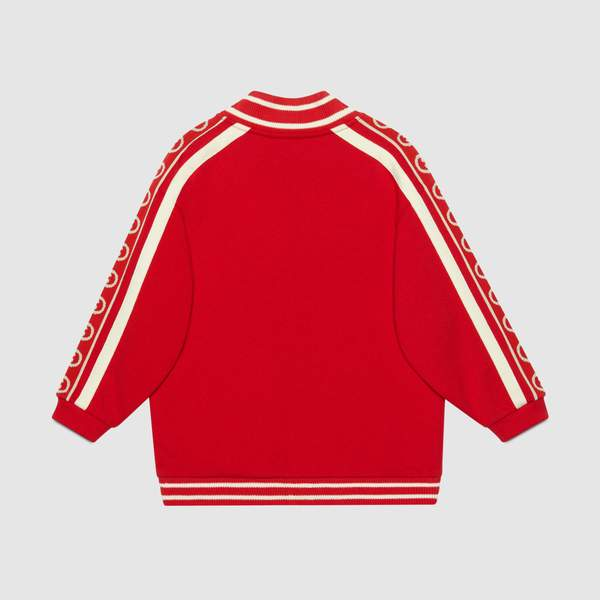 Boys & Girls Red GG Cotton Jacket
