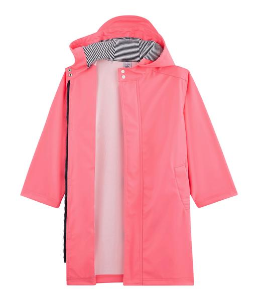 Girls Pink Hooded Coat