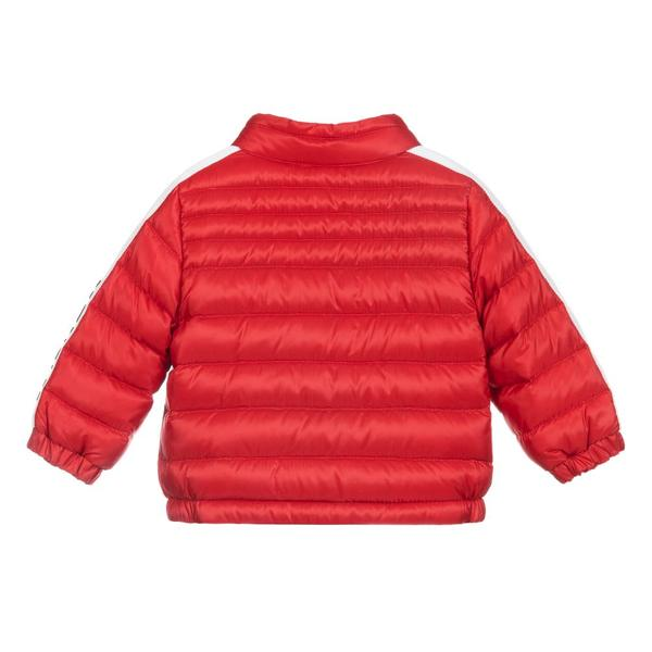 "Baby Boys Red ""ALBER  BIKER"" Padded Down Jacket"