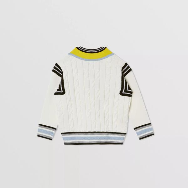 Boys White Logo Sweater