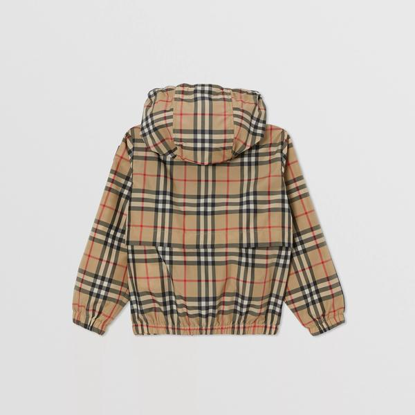 Boys Archive Beige Check Jacket