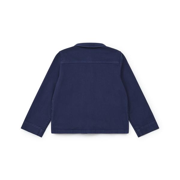 Girls Blue Embroidered Jacket