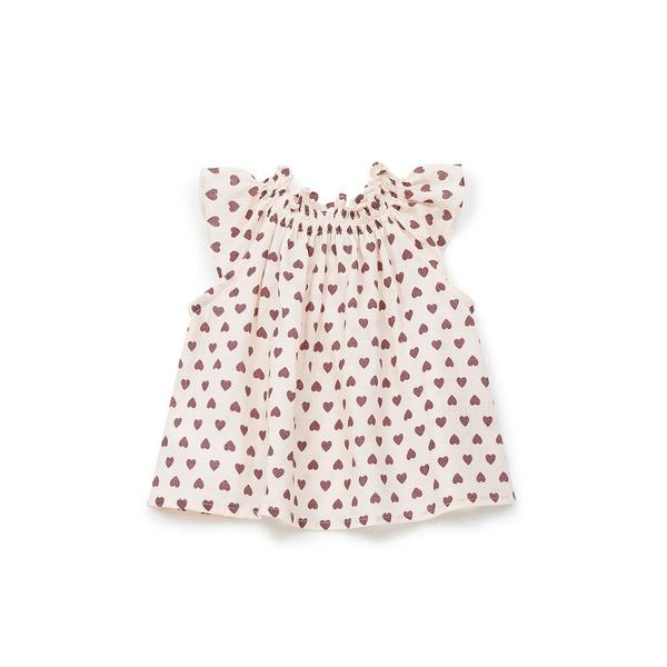 Baby Girls Pink Heart Cotton Top
