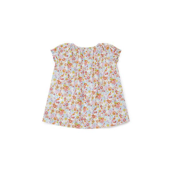 Baby Girls Multicolor Floral Cotton Dress