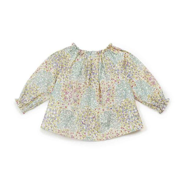 Baby Girls Green Floral Blouse