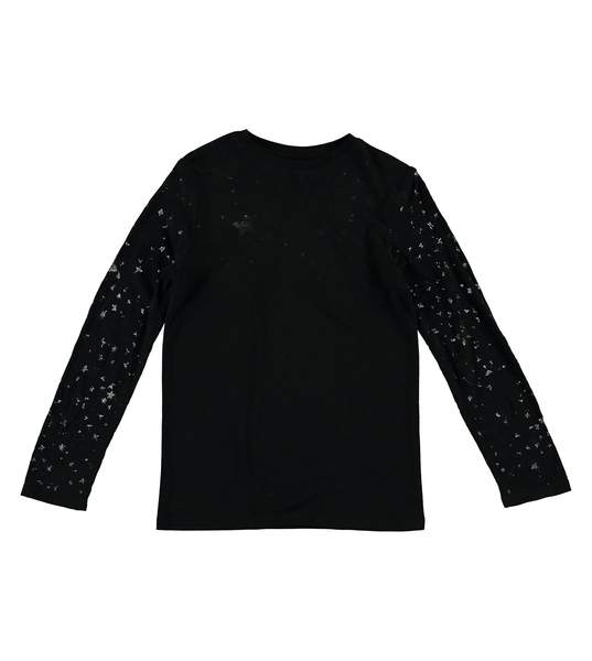 Girls Black Star Top