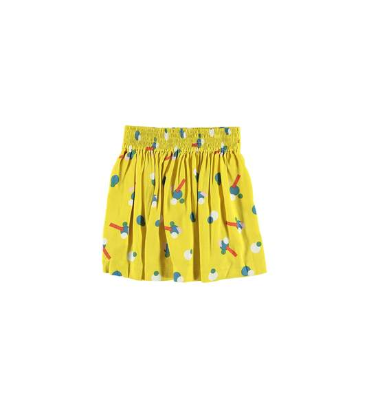 Girls Yellow Printing Skirt
