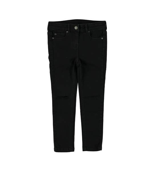 Girls Black Denim Trousers