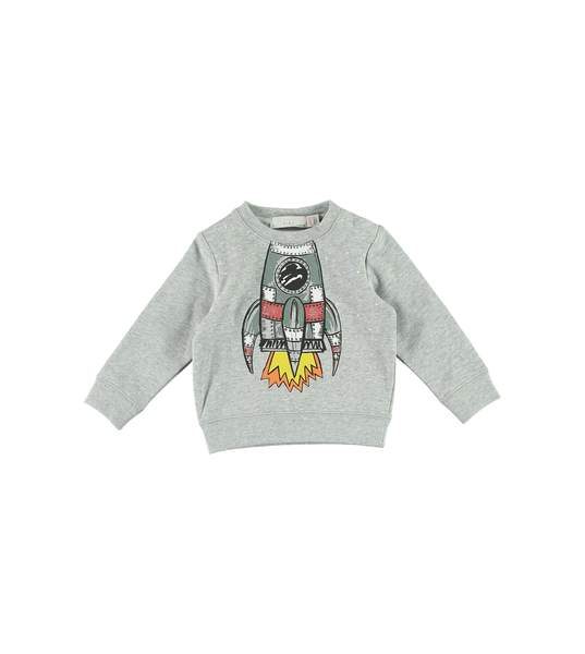 Baby Boys Grey Printing Cotton Sweatshirt