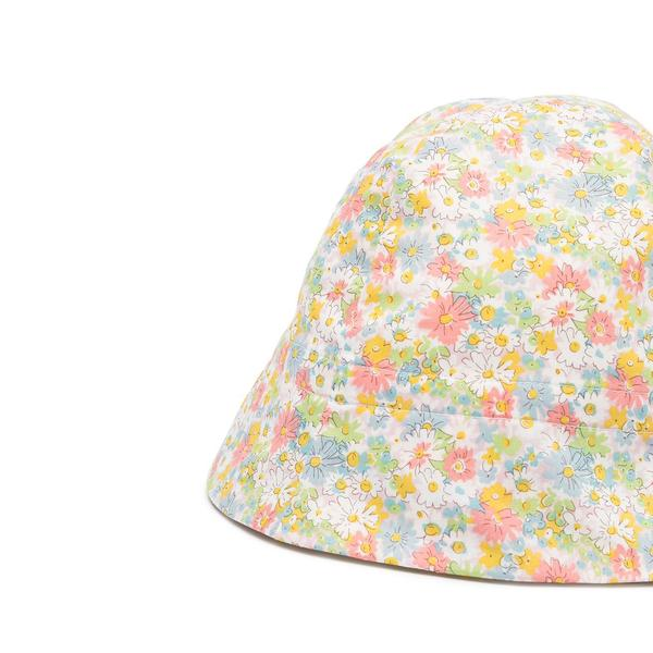 Baby Girls Pink Floral Cotton Hat