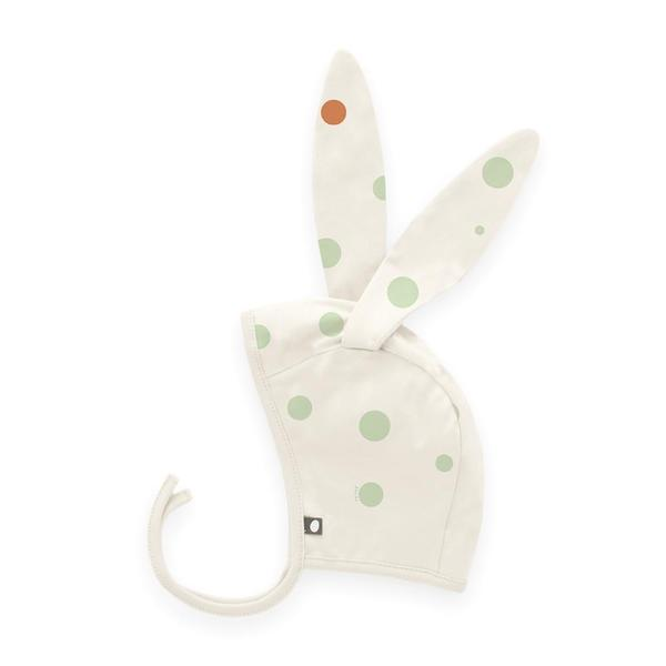 Baby Girls White Dots Bunny Hat