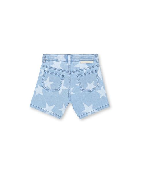 Girls Blue Star Cotton Shorts