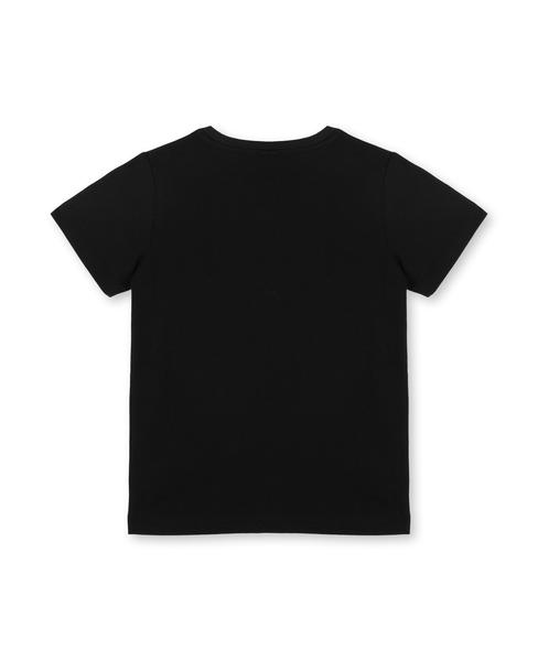 Girls Black Logo Cotton T-shirt