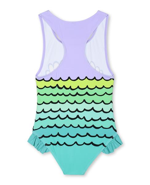 Girls Violet Mermaid Shells Swimsuit