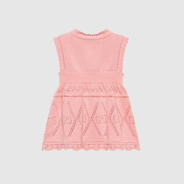 Baby Girls Pink GG Cotton Dress
