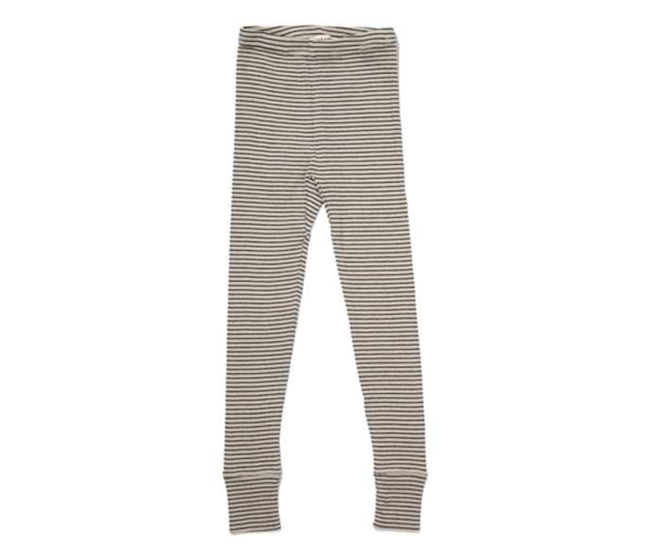 Girls Beige Striped Cotton Trousers