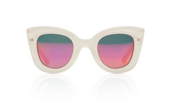 'Cat - Cat' Crystal Creme Sunglasses