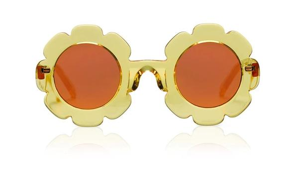 'Pixie' Yellow Jelly Sunglasses
