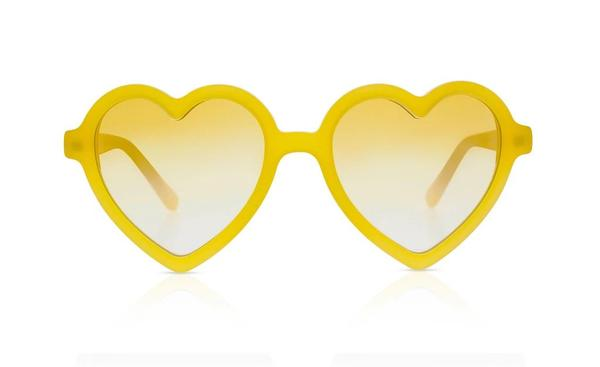 'Lola' Mango Yellow Sunglasses