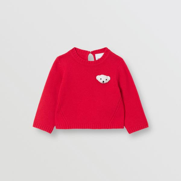 Baby Girls Red Wool Sweater