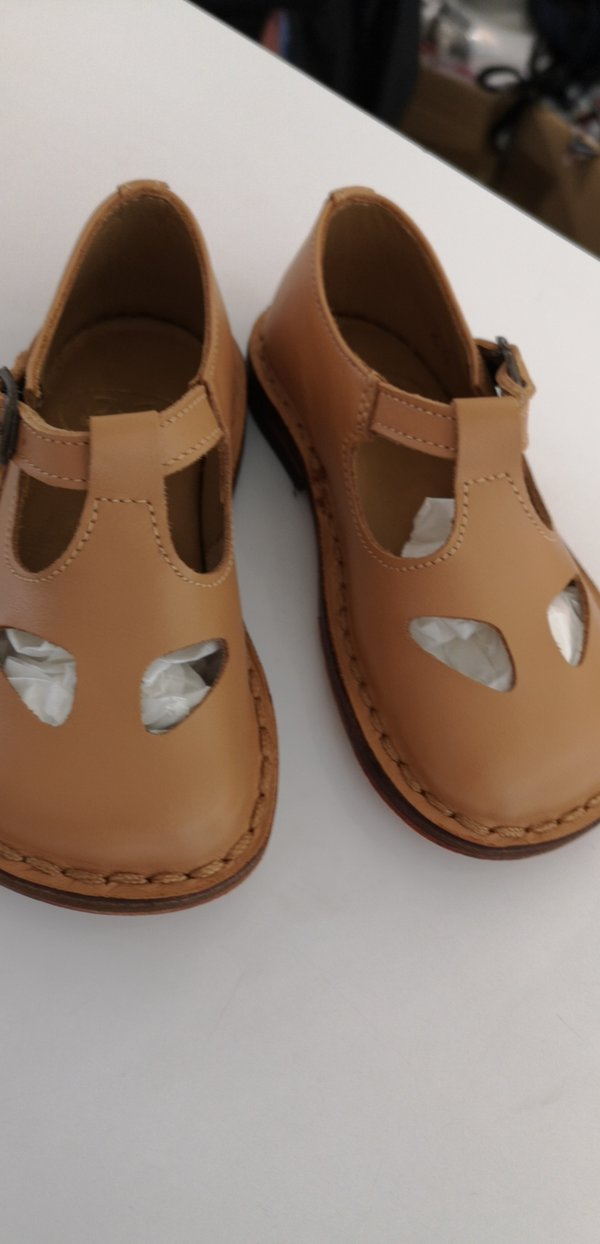 Baby Boys & Girls Beige Leather Shoes