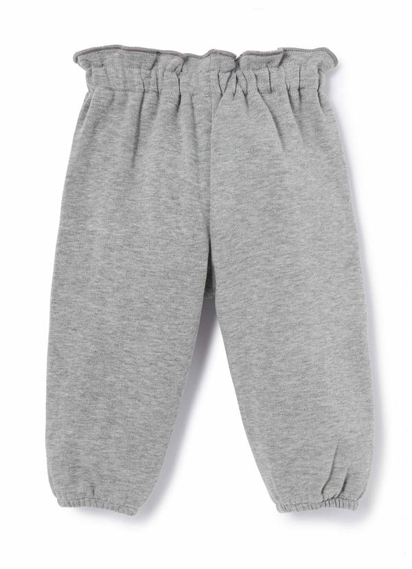 Baby Girls Grey Cotton Trousers