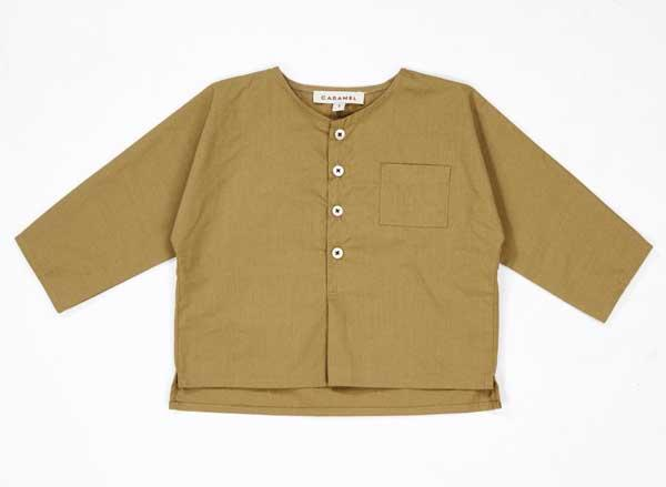 Baby Olive Cotton Shirt