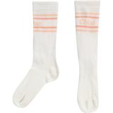 Girls White Logo Cotton Socks
