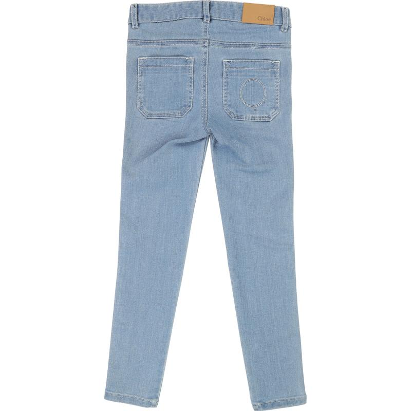 Girls Light Blue Cotton Jeans