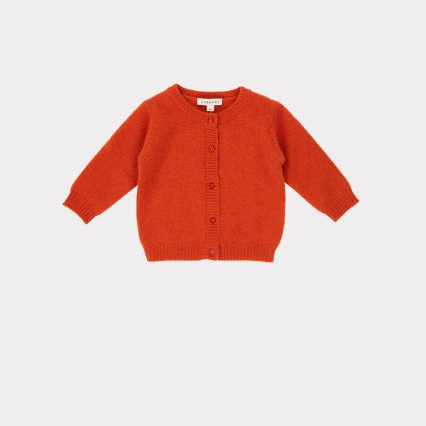 Baby Girls Red Cashmere Cardigan