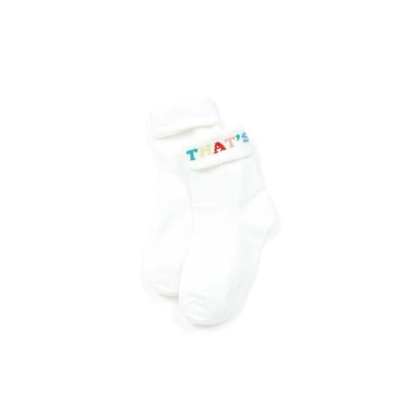 Girls White Cotton Socks