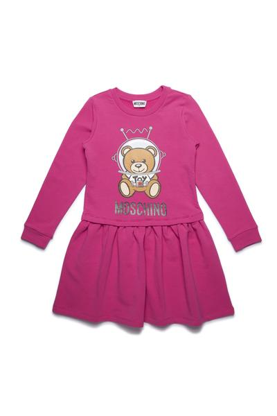 Girls Plum Red Printing Toy Cotton Dress