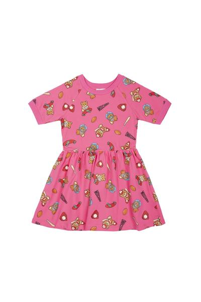 Girls Dark Pink Cotton Dress