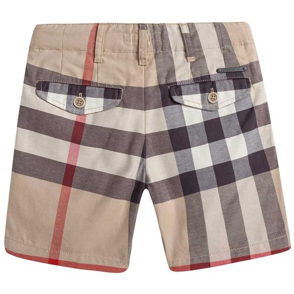 Boys Beige Checked Cotton Shorts - CÉMAROSE | Children's Fashion Store - 2