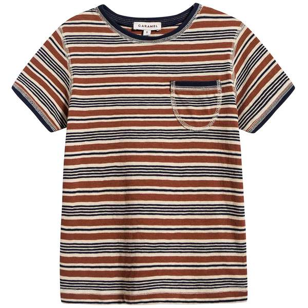 Boys Toffee Stripes Cotton T-shirt