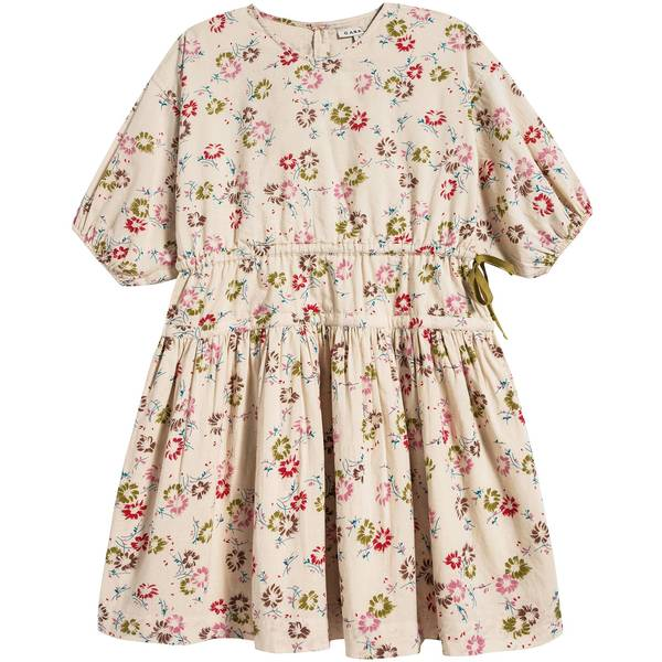 Girls Painted Flower Print Cotton Gress