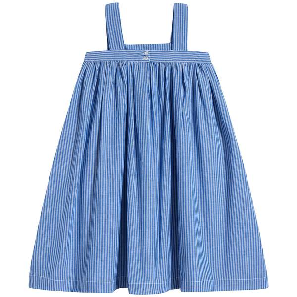 Girls Persian Blue Cotton Dress