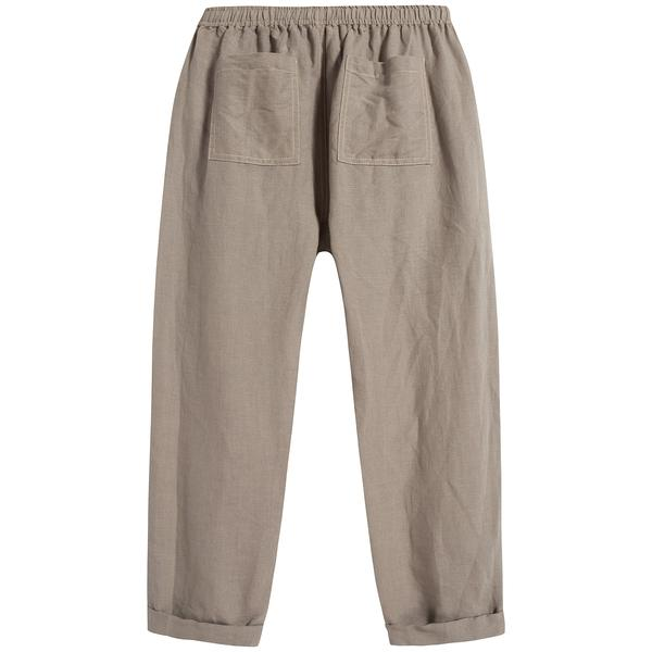 Boys & Girls Brown Linen Trousers