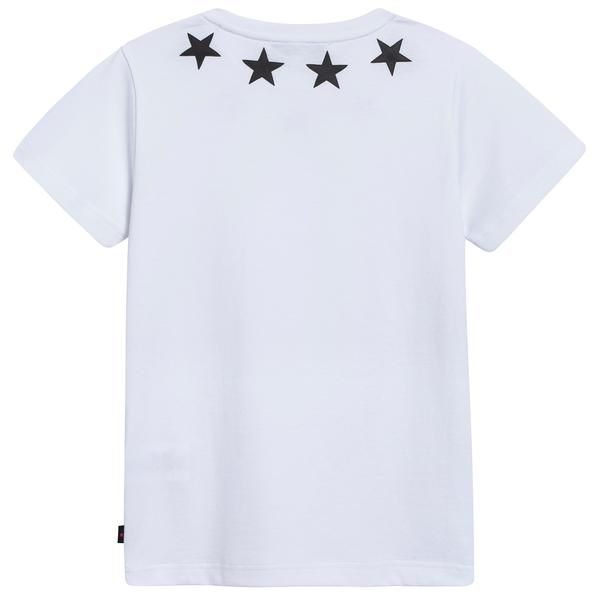 "Boys White Cotton ""Star"" T-shirt"