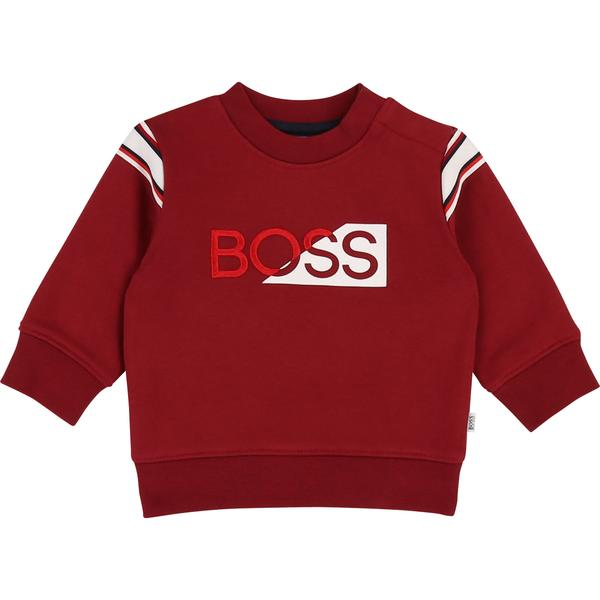 Baby Boys Red Logo Cotton Sweater