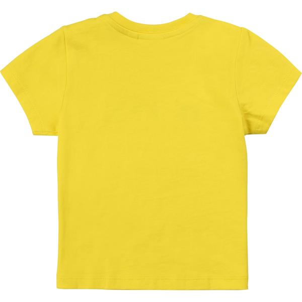 Baby Boys Yellow Logo Cotton T-shirt
