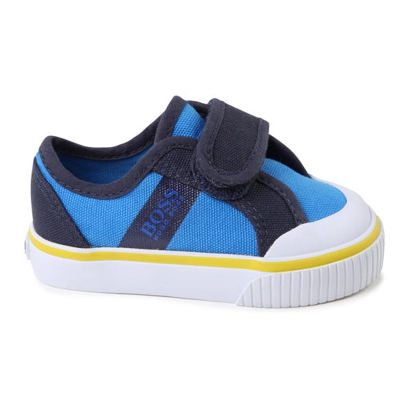 Baby Boys Blue Basket Shoes