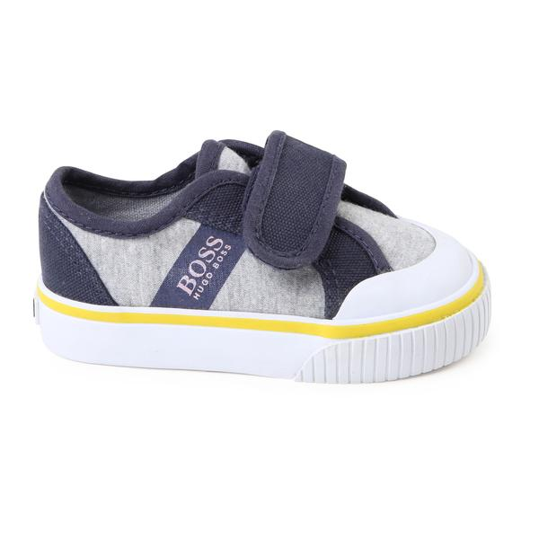 Baby Boys Grey Basket Shoes