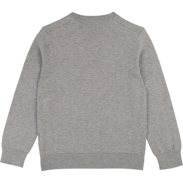 Boys Grey Logo Cotton Sweatshirt