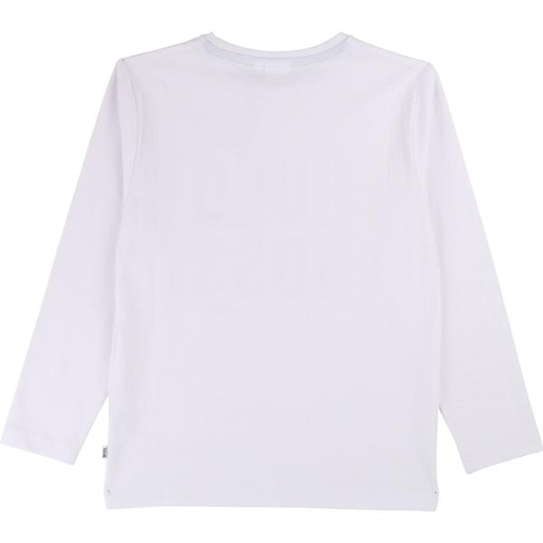Boys White Logo Cotton Shirt
