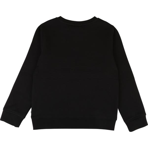 Boys Black Logo Cotton Sweater