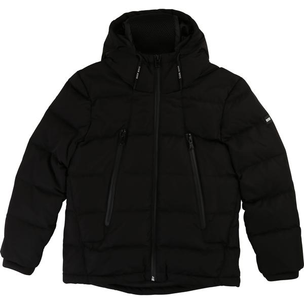 Boys Black Padded Down Coat
