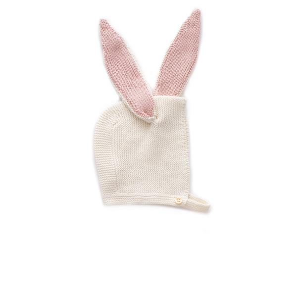 Baby Girls White Bunny Cotton Hat